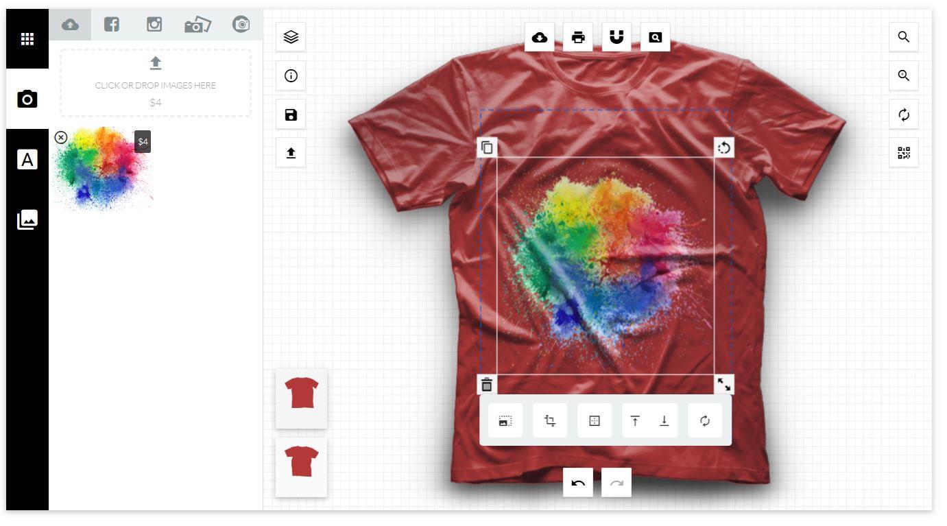 پلاگین طراحی تیشرت و چاپ آنلاین