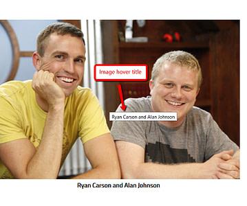 نحوه حذف/مخفی کردن عنوان تصویر در هنگام هاور موس