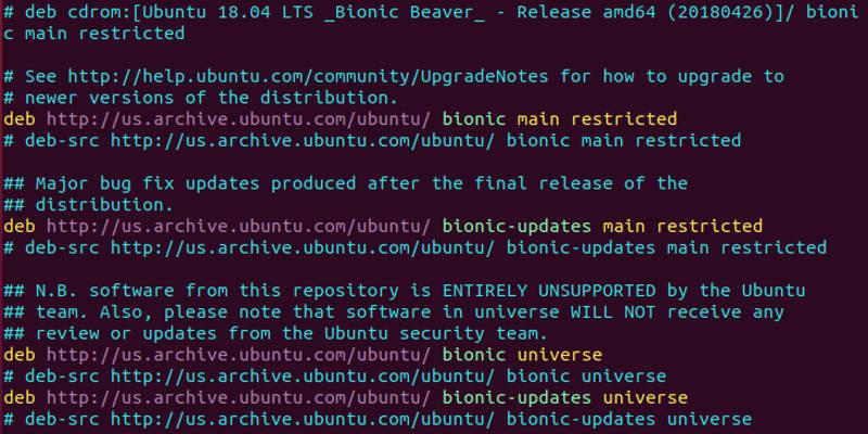 حل مشکل repository (مخازن ) در اوبونتو