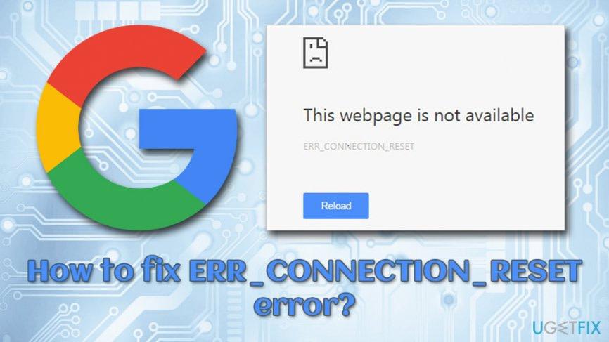 حل ارور ERR_CONNECTION_RESET در مرورگر گوگل کروم